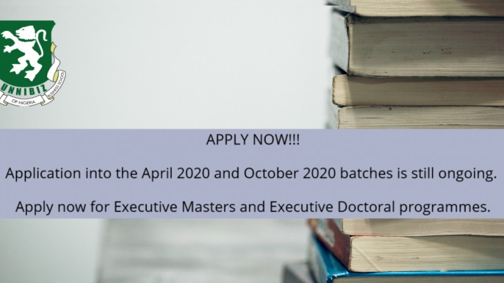 UNN BUSINESS SCHOOL ADVERT FOR 2020 ACADEMIC YEAR